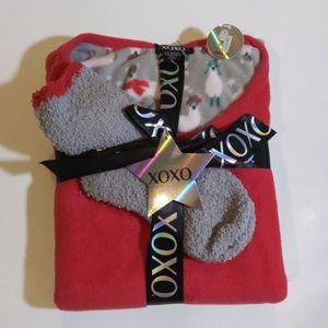 XOXO Intimates & Sleepwear - XOXO 3Piece Sleep Set Juniors Medium Llama